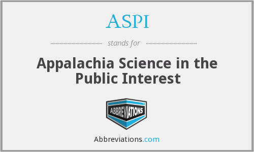 ASPI - Appalachia Science in the Public Interest