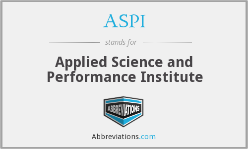 ASPI - Applied Science and Performance Institute
