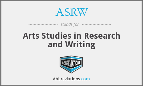 What does ASRW stand for?