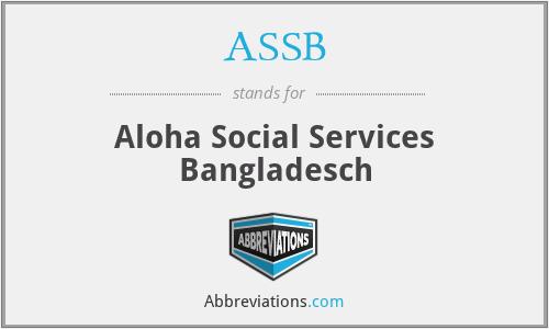 ASSB - Aloha Social Services Bangladesch