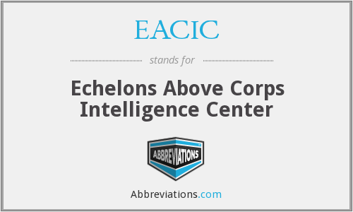 EACIC - Echelons Above Corps Intelligence Center