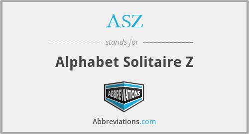 ASZ - Alphabet Solitaire Z