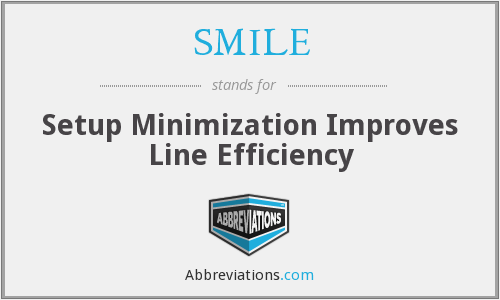 SMILE - Setup Minimization Improves Line Efficiency
