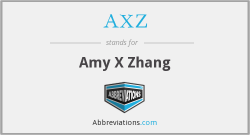 What does AXZ stand for?