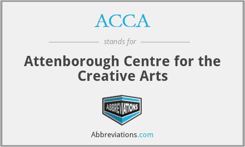 ACCA - Attenborough Centre for the Creative Arts