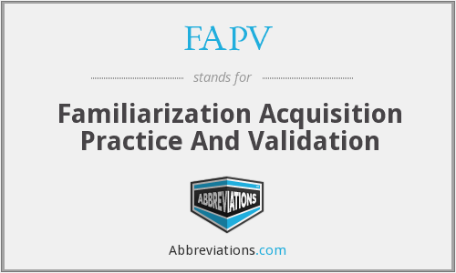What does FAPV stand for?