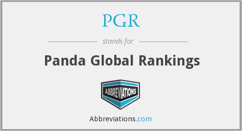 PGR - Panda Global Rankings