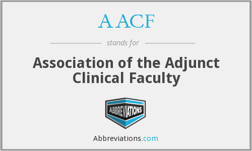 AACF - Association of the Adjunct Clinical Faculty
