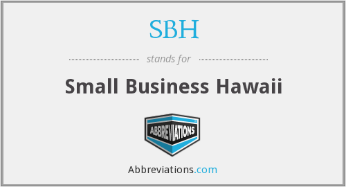 SBH - Small Business Hawaii