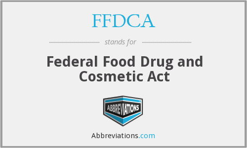 What does FFDCA stand for?