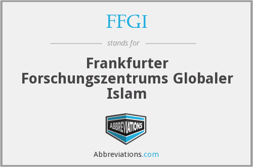 FFGI - Frankfurter Forschungszentrums Globaler Islam
