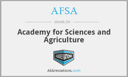AFSA - Academy for Sciences and Agriculture