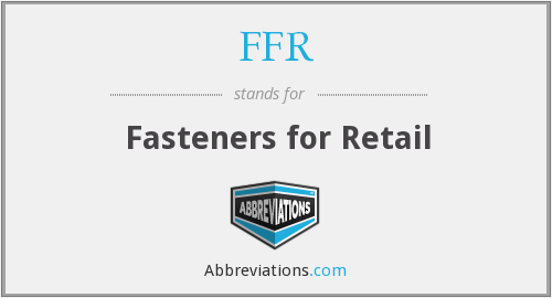 FFR - Fasteners for Retail