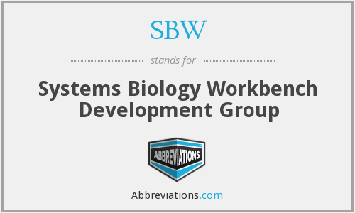 SBW - Systems Biology Workbench Development Group