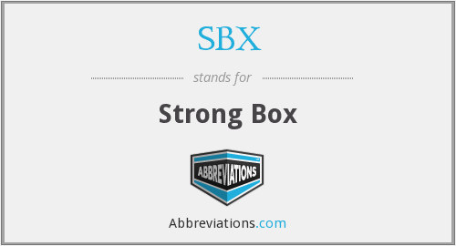 SBX - Strong Box