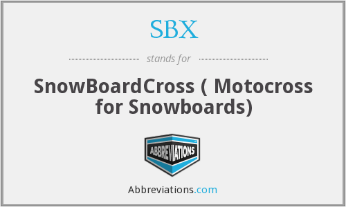 SBX - SnowBoardCross ( Motocross for Snowboards)
