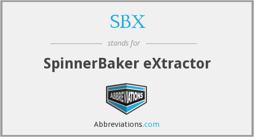 SBX - SpinnerBaker eXtractor