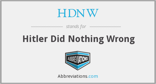 What does HDNW stand for?