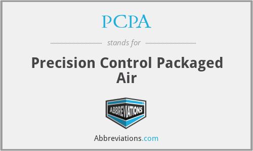 PCPA - Precision Control Packaged Air
