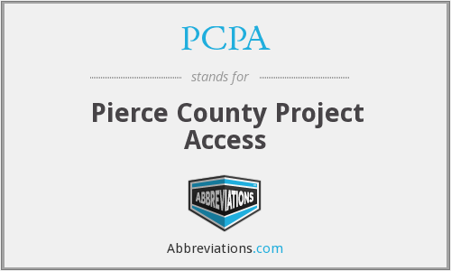 PCPA - Pierce County Project Access