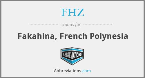 FHZ - Fakahina, French Polynesia