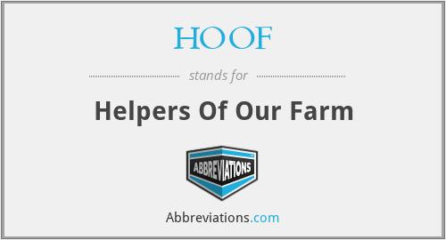 HOOF - Helpers Of Our Farm