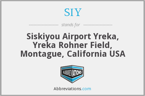 What does SIY stand for?