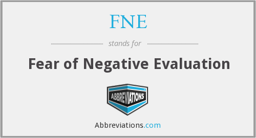 FNE - Fear of Negative Evaluation
