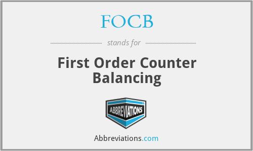FOCB - First Order Counter Balancing