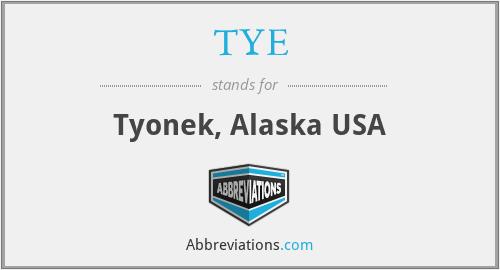 TYE - Tyonek, Alaska USA