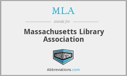 MLA - Massachusetts Library Association