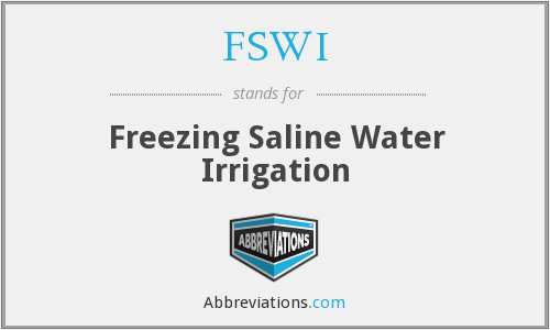 FSWI - Freezing Saline Water Irrigation