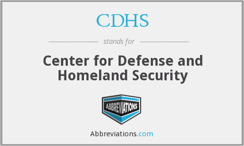 CDHS - Center for Defense and Homeland Security