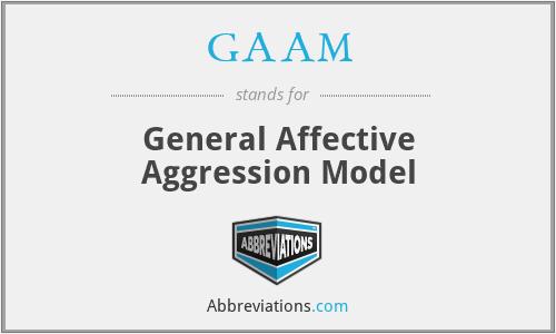 GAAM - General Affective Aggression Model