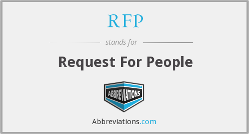 RFP - Request For People