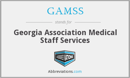 What does GAMSS stand for?