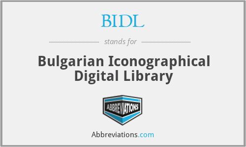 BIDL - Bulgarian Iconographical Digital Library