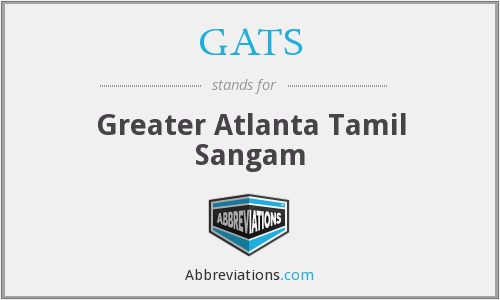 GATS - Greater Atlanta Tamil Sangam