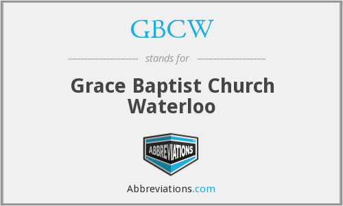What does GBCW stand for?