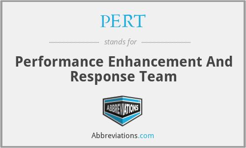 PERT - Performance Enhancement And Response Team
