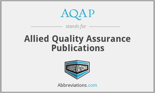 AQAP - Allied Quality Assurance Publications