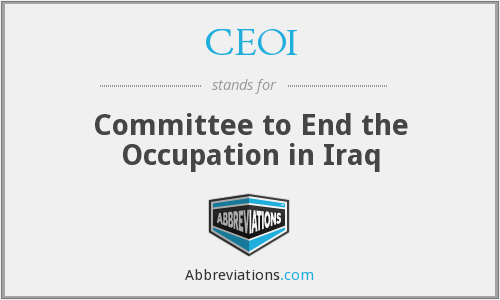 CEOI - Committee to End the Occupation in Iraq