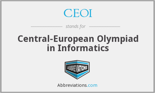 What does CEOI stand for?