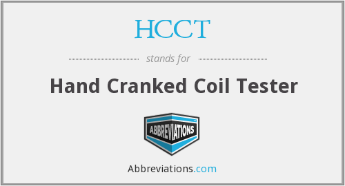 What does HCCT stand for?