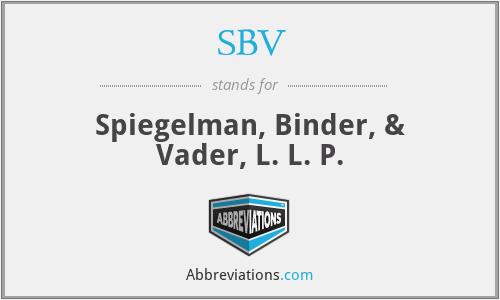 SBV - Spiegelman, Binder, & Vader, L. L. P.