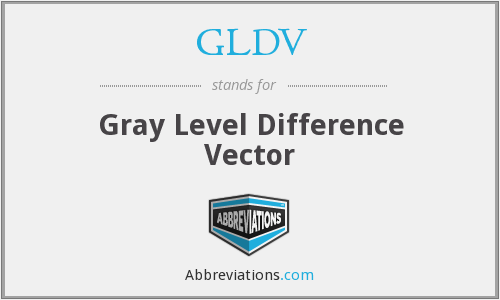 GLDV - Gray Level Difference Vector