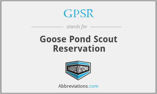GPSR - Goose Pond Scout Reservation