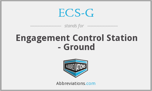 What does ECS-G stand for?