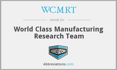 What does WCMRT stand for?
