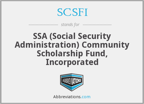 What does SCSFI stand for?